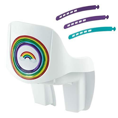 Widek HW2060RDS, Baby Rainbow-Seggiolino per Bicicletta Ragazza, Bianco, Taglia unica