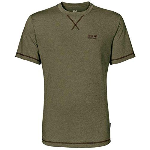Jack Wolfskin Crosstrail T-Shirt pour Homme S Olive/Motif Burnt