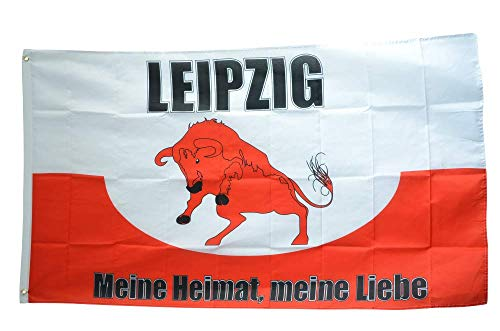 Flaggenfritze® Flagge/Fahne Fanflagge Leipzig - Meine Heimat Meine Liebe - 90 x 150 cm