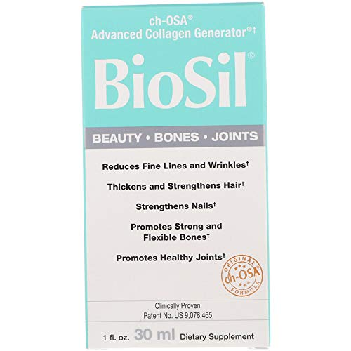 BioSil Beauty, Bones, & Joints Liquid, Advanced Collagen Support for Hair, Skin, Nails, and Joints, Vegan, 120 Servings (1 oz) (FFP)