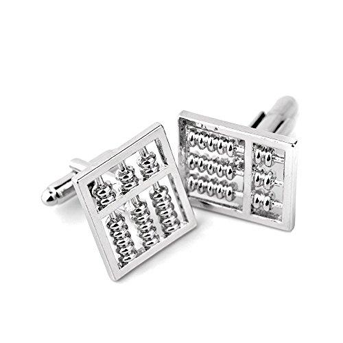 abaco argento Finanza matematica regalo di nozze Cuff Link argento formale gemelli