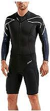 2XU Traje de Neopreno Swims-Run SR1 Pro, Negro, Azul, Estampado de Surf, fácil Estiramiento