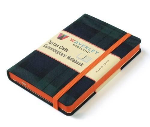 Waverley (L): Black Watch Tartan Cloth Large Notebook: Waverley Genuine Scottish Tartan Notebook