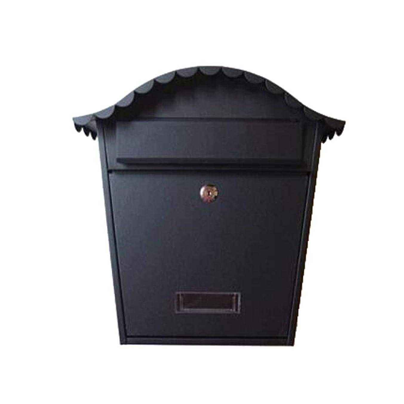 きしむギャラントリー持つZXPzZ ウォールマウント型メールボックス、レターボックス、ガーデンレターボックス -メール収集 (色 : ブラック)
