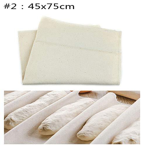 Vavamax Leinentuch zur Brot-Fementation, Teigbäckertuch, Baguettematte, Gebäck, Küchenzubehör #2