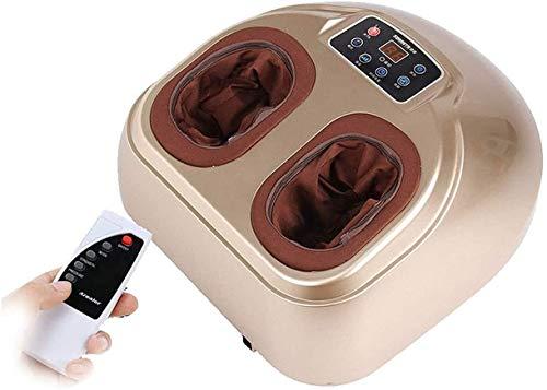 ZouYongKang Shiatsu Foot Massagegerätmaschine mit Hitze - elektrische Füße Massage mit einstellbarem tiefem Kneten, Roll- und Luftkompression für Fußmassage und Spannungsentlastung - Home & Office-Nut