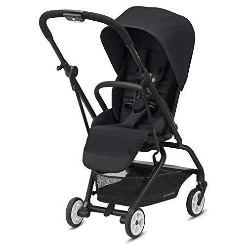 CYBEX Eezy S Twist 2 Stroller, 360° Rotating Seat, Parent Facing or Forward Facing, One-Hand Recline, Compact Fold, Lightweight Travel Stroller, Stroller for Infants 6 Months+, Deep Black