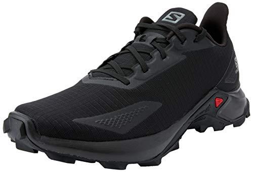Salomon Herren Alphacross Blast, Bequeme Trail Running Schuhe, Starker Grip, Schwarz (Black/Black/Black),42 2/3 EU