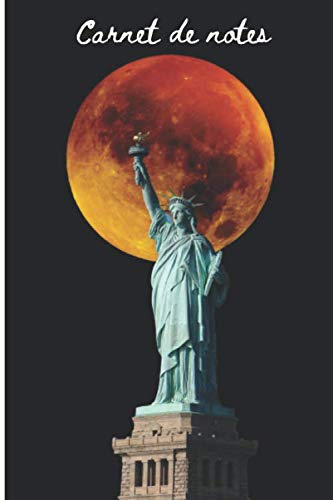 Carnet de Notes New-York: Statue de la liberté New-York – bloc-notes journal de bord carnet de notes grand format à remplir livre de suivi - 100 pages lignées – 15,24 x 22,86 cm