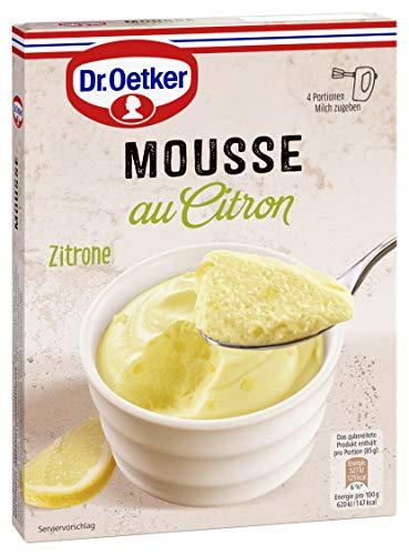Dr. Oetker Mousse Zitrone, 8er Pack (8 x 93 g Packung)