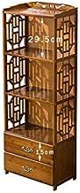 HORS étagères chinois simples étagères de bibliothèque plancher en bambou mélange créatif des étudiants salon tiroir étagè...