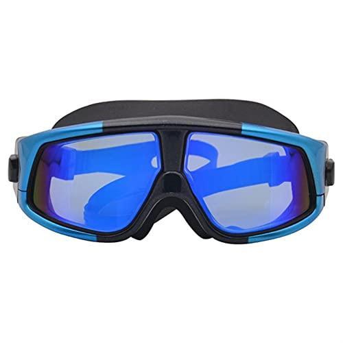 YWSZY Gafas Natacion, Anti-Niebla Anti-Ultravioleta Adult Natación Mascarilla Impermeable Gafas de natación Cómodo Silicone Natación Gafas (Color : Blue)