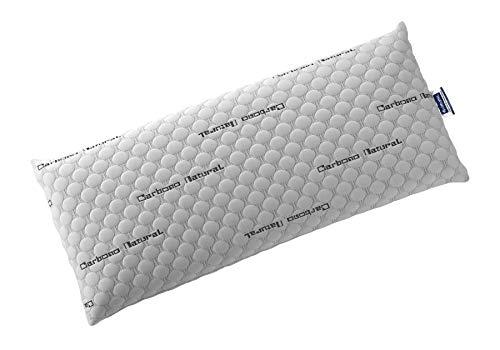 Todocama - Almohada viscoelástica Carbono con Copos 100% viscoelásticos. Tejido Strech de Carbono. Firmeza Media - Alta. (Todas Las Medidas Disponibles) (80 cm)