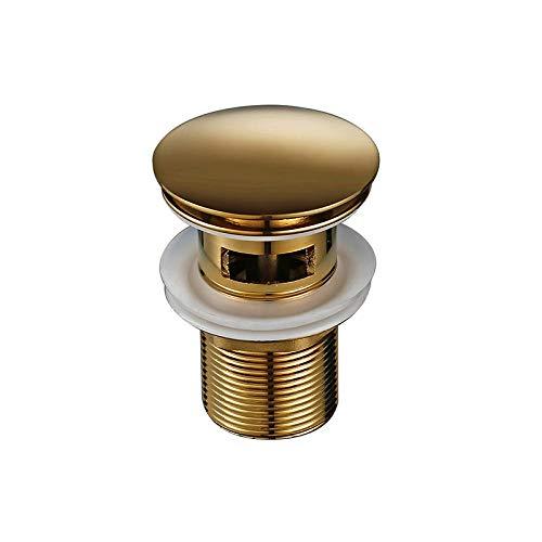 Smesiteli luxe badkamer badkamer toilet wastafel afdruiprek gepolijst oud goud anticorrosief duurzaam water pop-up afvoer met overloop gepolijst oud goud