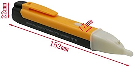 JSG Accessories/® Non-Contact Voltage Tester Detector Multi-Sensor Safe Voltage Measuring Tool Electrical Test Pencil Electrometric Detector Sensing Range AC 90-1000v