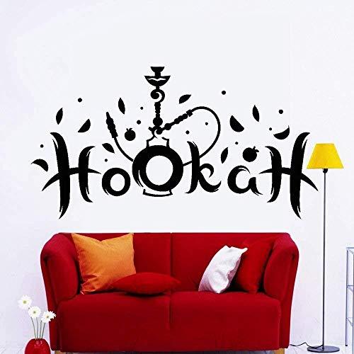DIY Art Wall Sticker 85x45cm Water Fireworks Company Window Shisha Shisha Smoke Tobacco Arabic Lounge Muebles