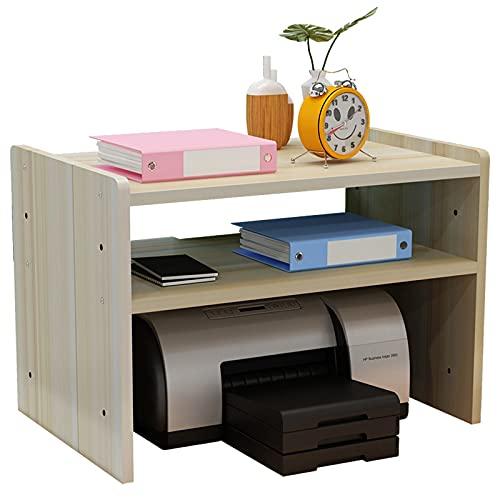 Soporte Impresora Impresora Stands Estantería de impresora Impresora de madera Estante Oficina de oficina Estante de escritorio 3 Capa Multi Funcional Simple Hogar y Oficina Organización Escáner Estan