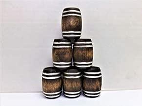 G Scale Whiskey Barrels 1:24 Real Wood Diorama Set of 6