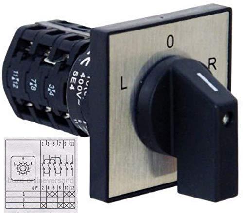 BUZE Wendeschalter 230V/400V Drehschalter ZH-A Handschalter linkslauf/rechtslauf