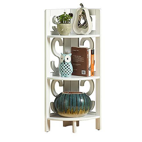 YINUO En bois massif créatif moderne minimaliste étagère étagère de rangement salon chambre set-top box décoration multi-couche fleur étagère taille: 45x92cm (Color : White)
