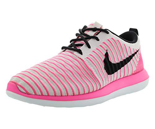 Nike Damen Roshe Two Flyknit (GS) Laufschuhe, Rosa Pearl Pink Schwarz Pink Blast Weiß, 38.5 EU