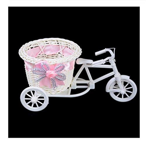 LSBXWL 1 stk bloem mand pot rotan fiets opslag mand Float Vaas Plant Stand houder driewieler fiets ontwerp organisator