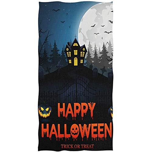 Exking pompoen-gelukkige Halloween-deur-slot-maan-handdoeken voor badkamer-gast-handdoeken, veelzijdig bruikbaar voor gymzaal en hotel