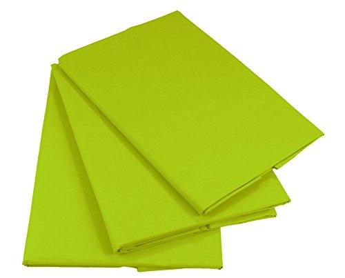 KMP know how in modern printing Bettlaken Betttuch Haustuch 100% Baumwolle ohne Gummizug viele Uni Farben (160 x 200 cm, Grün)