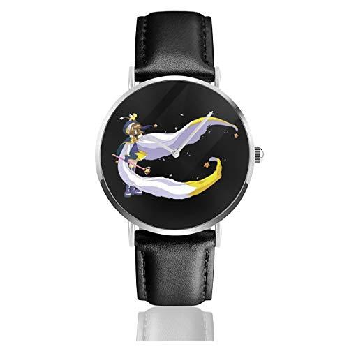 Carcassonne Power to The Meeple - Reloj de Pulsera Unisex (Cuarzo, Correa de Piel Negra, Regalo para Hombres y Mujeres)