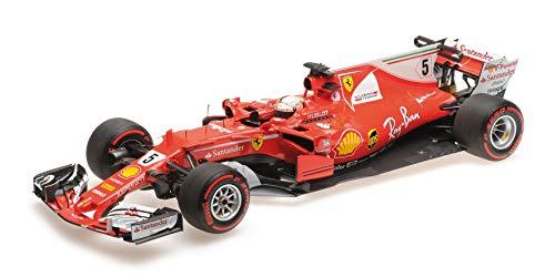 BBR Models BBR 181715 - Ferrari SF70-H Scuderia Ferrari S.Vettel Winner GP Monaco 2017 - Escala 1/18 - Vehículo en Miniatura