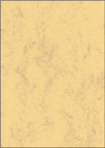 SIGEL DP553 Papel de cartas, 21 x 29,7 cm, 200g/m², mármol arena castaño claro, 50 hojas