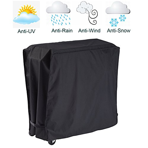 FLR Black Cooler Cover Universal Waterproof Durable Rolling Cooler Patio Cooler Cover Protection for Outdoor Beverage Cart Rolling Ice Chest Party Cooler