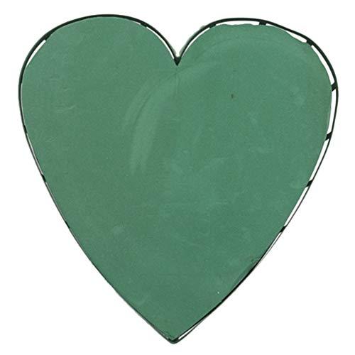 Healifty Blocchi di Schiuma Floreale a Forma di Cuore Fiorista Verde Spugna Mattoni Floreali Fango di Fiori per Matrimonio Forniture per L'organizzazione Floreale