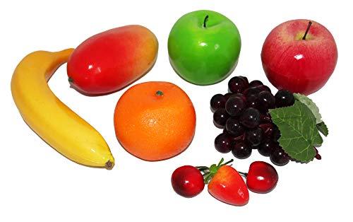 rukauf Juego de 9 frutas artificiales