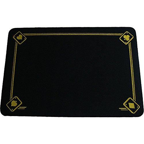 Klassische gedruckte Teppich (schwarz)