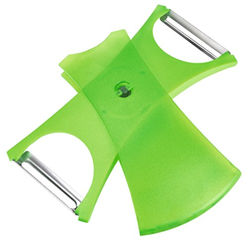 KUHN RIKON pelador 2 en 1, Acero Inoxidable, Verde, Centimeters