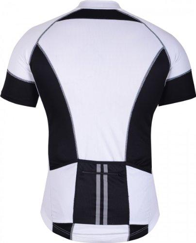 German Wear Trikot Radtrikot Fahrradtrikot Fahrrad Radler-Trikot Shirt Jersey Schwarz/Weiß, Größe:S