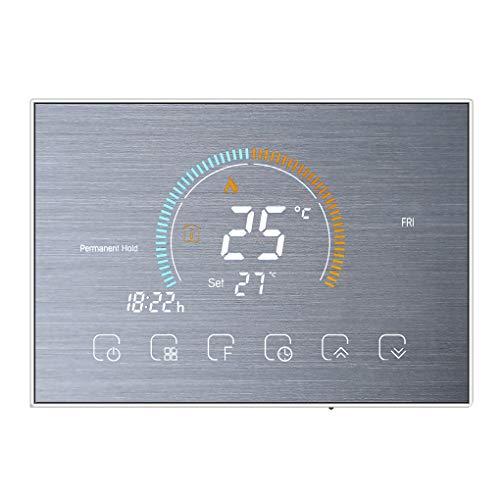 Vokmon Termostato Programable de 5 + 1 + 1 LCD retroiluminado Pantalla del termostato de calefacción Controlador de Temperatura, Silver
