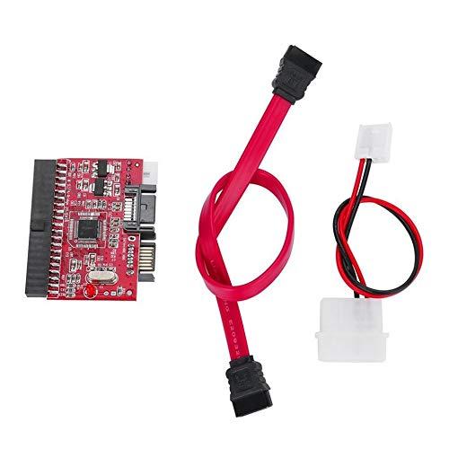 CVBN IDE HDD a SATA Serial ATA Converter Adapter Soporte de Controlador de Disco Duro, Rojo