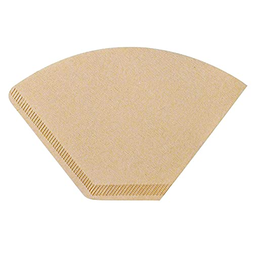 #4 Natural Brown Paper Cone Coffee Filters, Unbleached Coffee Filter 4, Fit 8~12 Cup Cuisinart Ninja Bonavita OXO Coffee Maker & #4 Cone Coffee Drippers, Replace Melitta Coffee Filters No.4 (100)