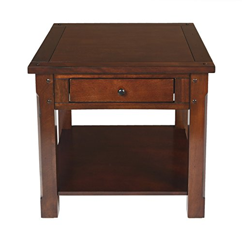 New Classic Furniture Corsica End Table, African Chestnut