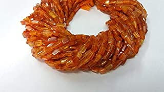 Jewel Beads Natural Beautiful jewellery 5 Strands Natural Carnelian Smooth Square Gemstone Rondelle - Beads Measure About 10X6mm Size - 13 Inchs LongCode:- BB-12797