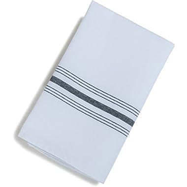 Carlisle 53771822NH014 Restaurant Quality Cloth Dinner/Bistro Napkins, 18  x 22 , Black Stripe (Pack of 12)