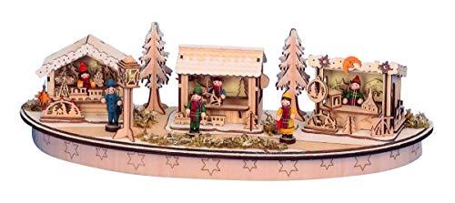 Weihnachtsmarkt Holz LED Beleuchtet Weihnachtsdekoration Marktstände Weihnachten