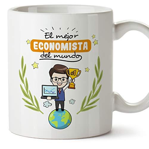 MUGFFINS Taza Economista Hombre (Mejor del Mundo) - Regalos Originales y Divertidos de Economía