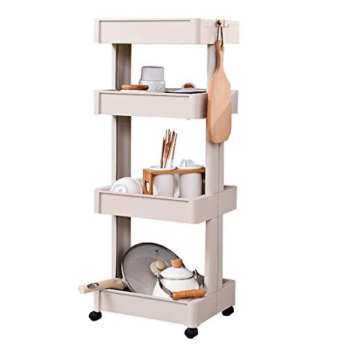 Gewatteerde opbergkast 3/4 rijen keukenrek van kunststof badkamer koelkast smalkast 45 * 25.5 * 102cm