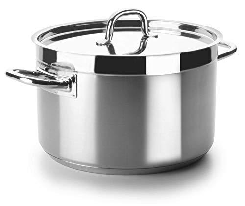 Lacor - 54033s - Cacerola Alta Sin Tapa Chef Luxe 32 Cm Inox