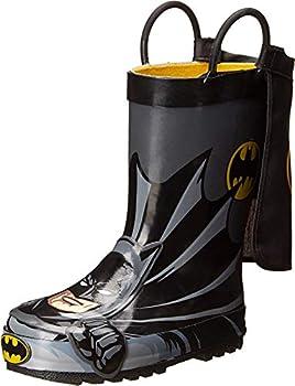 Western Chief Kids Boy s Batman Everlasting Rain Boot  Toddler/Little Kid/Big Kid  Black 11 Little Kid M