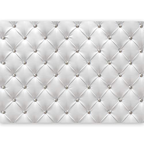 murando - XXL Fototapete Leder-Optik 500x280 cm - Größe Format - Vlies Tapete - Moderne Wanddeko - Design Tapete - Wandtapete - Wand Dekoration - Polster Ilussion helle dezente Farbe f-B-0040-a-a