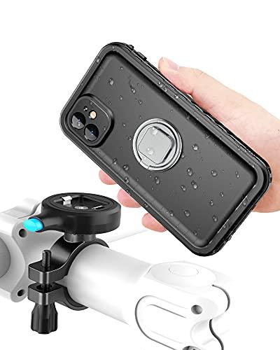 """Cozycase Handyhalterung Fahrrad mit iPhone 11 wasserdichte Hülle, stabile Motorrad Halterung aus Metall, nur kompatibel mit (iPhone 11 (6,1"""")"""